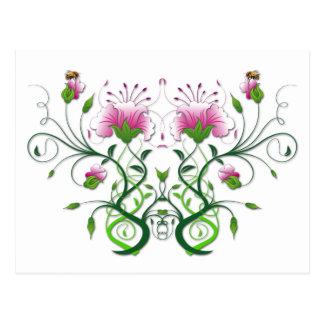 Cartão floral:    Simetria da flor