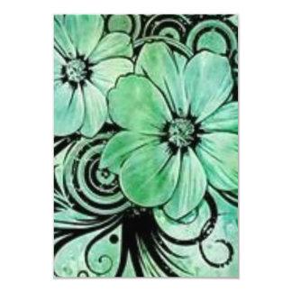Cartão Floral verde