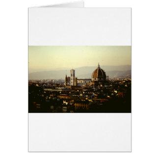 Cartão Florença - uma vista em toda a cidade ao domo