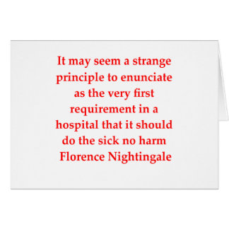 Cartão Florence Nightingale