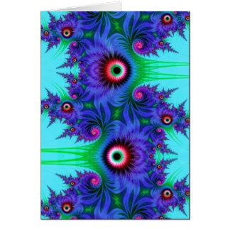 Cartão flores aquáticas