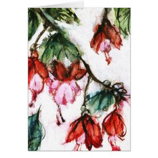Cartão flores asiáticas