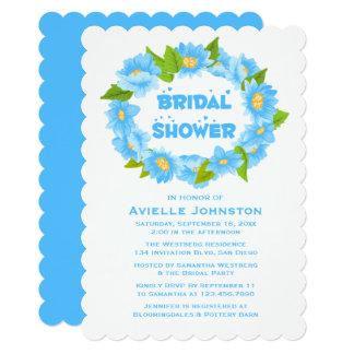 Cartão Flores azuis de turquesa do chá de panela floral