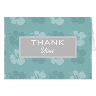 Cartão Flores azuis do hibiscus