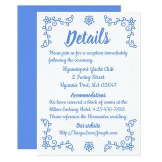 Cartão Flores azuis florais dos sentidos do Cornflower