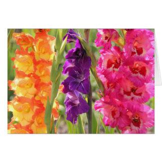 Cartão Flores bonitas do tipo de flor