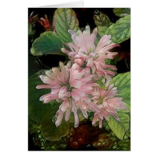 Cartão Flores cor-de-rosa