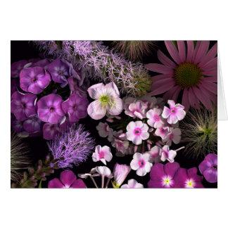Cartão Flores cor-de-rosa de junho