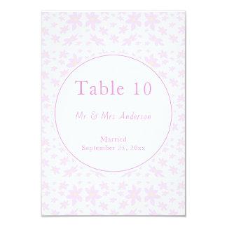 Cartão Flores cor-de-rosa delicadas que Wedding