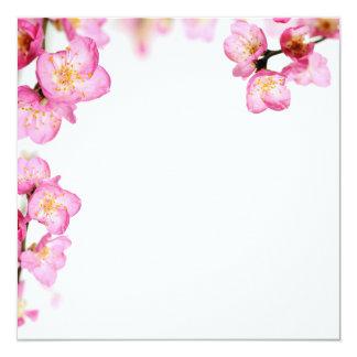 Cartão Flores cor-de-rosa do primavera