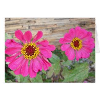Cartão Flores cor-de-rosa dobro