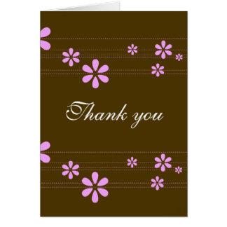 Cartão Flores cor-de-rosa - personalizadas