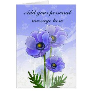 Cartão Flores da anêmona
