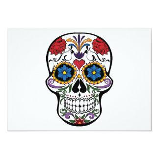 Cartão Flores da cabeça de morte
