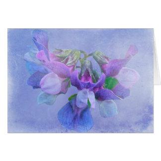 Cartão Flores da ervilha de praia