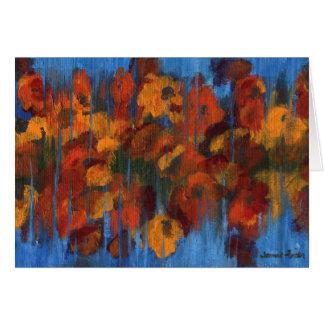 Cartão Flores da queda