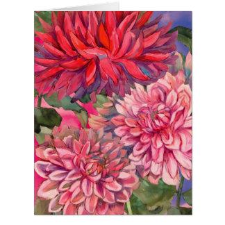 Cartão flores das dálias