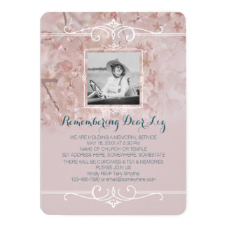 Cartão Flores de cerejeira cor-de-rosa empoeiradas da