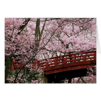 Cartão Flores de cerejeira (vazio para dentro)