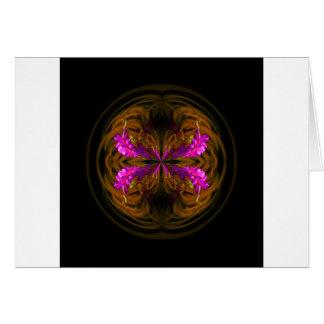 Cartão Flores de globo douradas