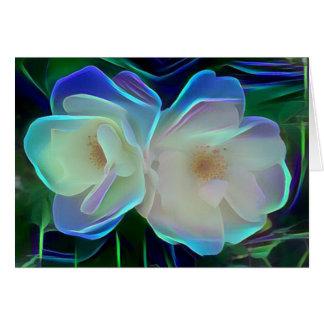 Cartão Flores de néon