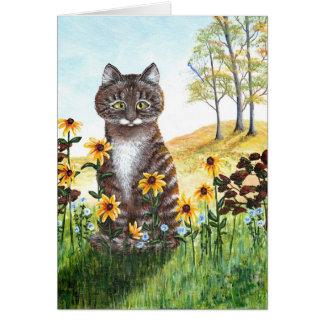 Cartão Flores de olhos pretos engraçadas de Susans do