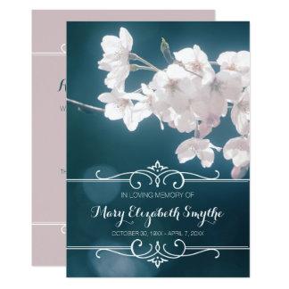 Cartão Flores de Sakura das flores de cerejeira da