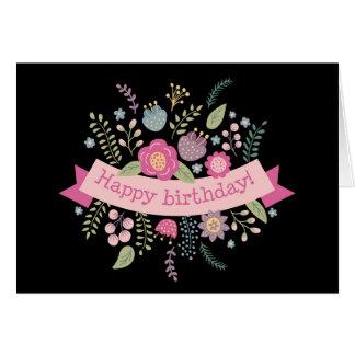 Cartão Flores do aniversário