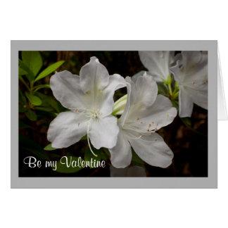 Cartão Flores do branco da azálea dos namorados 52