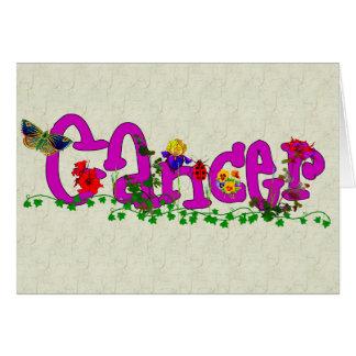 Cartão Flores do cancer