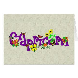 Cartão Flores do Capricórnio