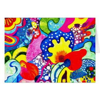 Cartão Flores do Flamenco