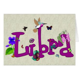 Cartão Flores do Libra