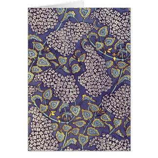 Cartão Flores do Lilac de Nouveau da arte '