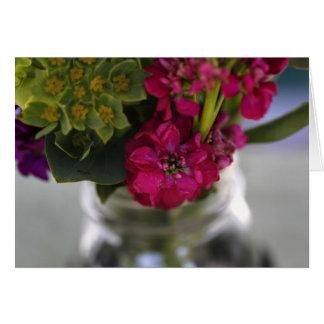 Cartão Flores do mercado dos fazendeiros