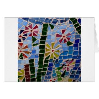 Cartão Flores do mosaico