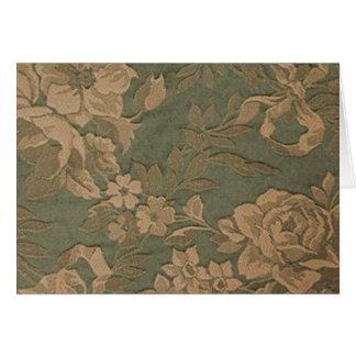 Cartão Flores do musgo
