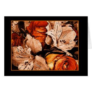 Cartão Flores do outono