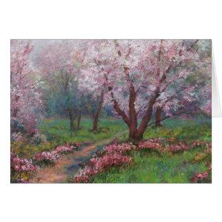 Cartão Flores do primavera