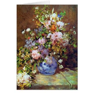 Cartão Flores do primavera por Renoir