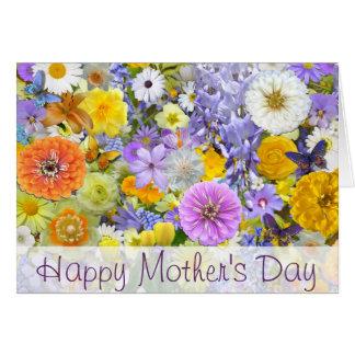 Cartão - flores e borboletas