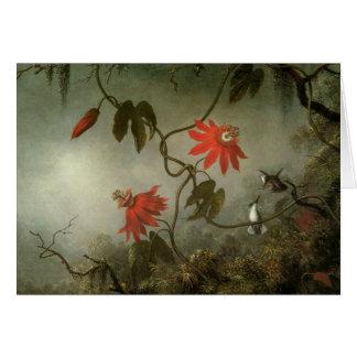 Cartão Flores e colibris da paixão
