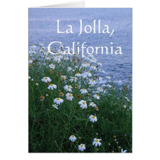 Cartão Flores e oceano La Jolla, Califórnia