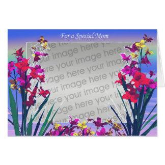Cartão Flores especiais do dia da mãe (quadro da foto)