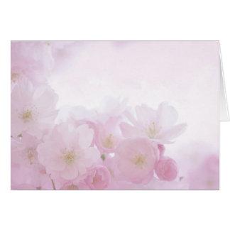 Cartão Flores florais Pastel cor-de-rosa Notecard vazio