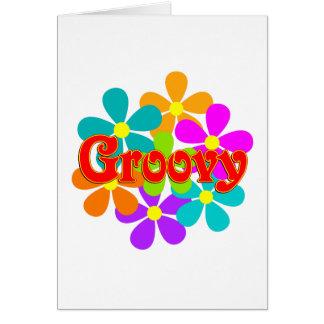 Cartão Flores Groovy do divertimento