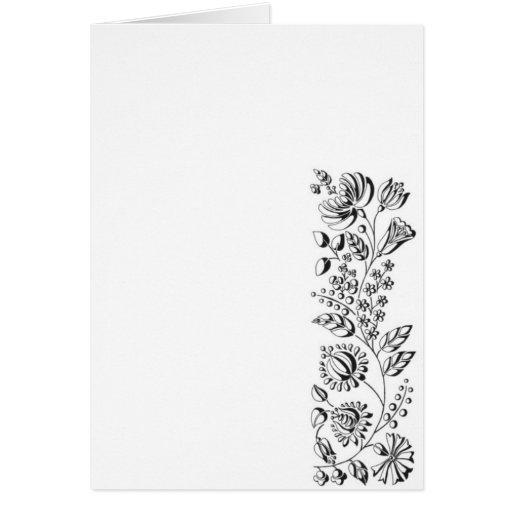 cartão, flores húngaras