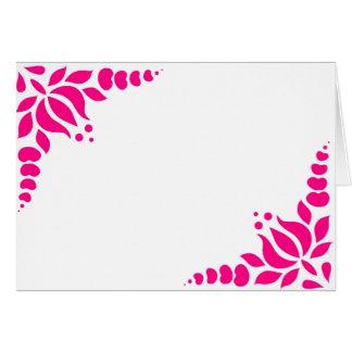 cartão, flores húngaras, cor-de-rosa