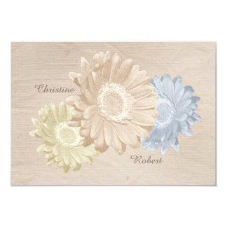 Cartão Flores macia Antiqued RSVP do papel & do Pastel do