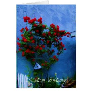Cartão Flores na flor em Madison, Indiana
